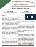Investment Behavior Among Generational Group