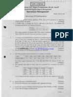operations management vtu 2007