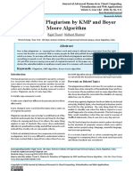 Detection of Plagiarism by KMP and Boyer Moore Algorithm