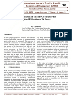 Implementation of TI-SEPIC Converter for Optimal Utilization Of PV Power