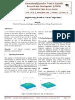 Fourier Filtering Denoising Based on Genetic Algorithms