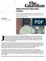 Open City by Teju Cole – review | Books | The Guardian