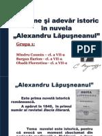 Fictiune Si Adevar Istoric in Nuvela Alexandru Lapusneanul