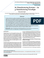 Reconfigurable Manufacturing Systems – An Emerging Manufacturing Paradigm