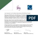 Joint Statement FDA PCS Prospect 17.07.18