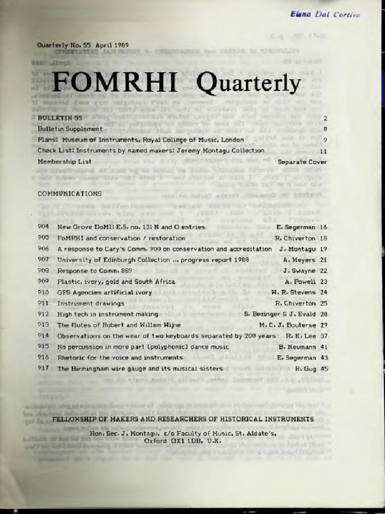 Fomrhi-043 | Harpsichord | Trombone