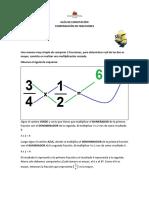 Guía de Matemáticas - Método multiplicativo para la comparación de fracciones - 4° Básico