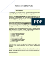 1) MASTER Marketing Budget Template