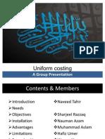Uniform Costing