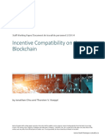Bank of Canada Staff Working Paper :Document de Travail Du Personnel 2018- 34 Incentive Compatibility on the Blockchainswp2018-34