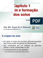 Origem e Formação Dos Solos APRESENTAÇÃO PUC GOIÁS