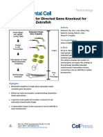 A Rapid Method for Directed Gene Knockout for Screening in G0 Zebrafish