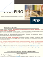 Meaning and Nature of Staffing