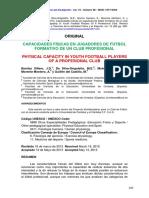 Benítez Sillero; Da Silva-Grigoletto; Et Al. (2015) - Capacidades Físicas en Jugadores de Fútbol Formativo de Un Club Profesional