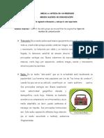 Guía de Lenguaje  - Los medios masivos de comunicación - 4° básico