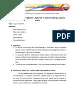 Written Report Types of Conflict Ver. 2.0