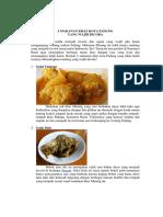 5 Makanan Khas Kota Padang