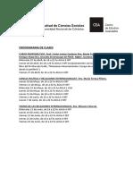 CRONOGRAMA DE CLASES 12° cohorte
