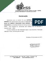 Wesley Declaração Especialização