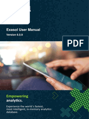 EXASOL User Manual 6 0 9 En   Sql   Databases