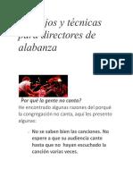 Consejos y Tecnicas Para Directores de Alabanza