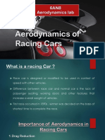 Aerodynamics of Racing Cars
