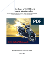 Feasibility of CAU Hybrid Motorcycle Manufacturing