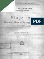 Viaje de Buenos Aires Potosí y Arica