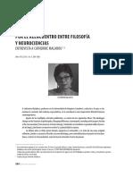 Catherine Malabou - Reencuentro Filosofia & Neurociencias