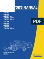New Holland TX Operator Manual