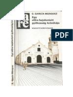 Gabriel García Márquez Egy Előre Bejelentett Gyilkosság Krónikája
