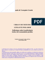 AA Trazegnies - Ciriaco de Urtecho. Litigante Por Amor (Extracto Para Materiales)