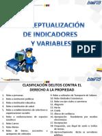 indicadores y variables del delito