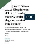 Trump mete prisa a López Obrador con el TLC.docx