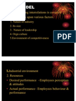 Performance management model and Performance management system