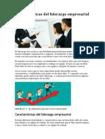Características Del Liderazgo Empresarial