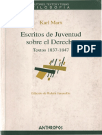 MARX, Karl. Escritos de Juventud sobre el Derecho 1837-1847 (Rubé_Jaramillo_Ed.), Barcelona, Anthropos