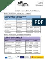 Calendario Exámenes Eval Final 1º 17 18
