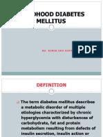 Childhood Diabetes Mellitus