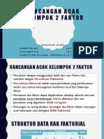 RANCANGAN ACAK KELOMPOK 2 FAKTOR