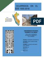 Cronologia Historica de Los Terremoto Peru