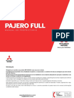 MITSUBISHI PAJERO FULL - MANUAL 2018