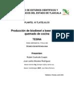 Producción de biodiesel