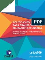 Educacion UNICEF Flacso PoliticasEducativas
