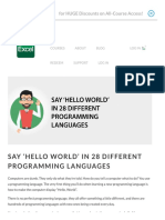 Say 'Hello World' in 28 Different Programming Languages - Excel With Business