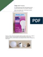 Bedah Philips LED 7W (E27)