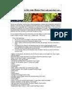 Fruits Vegetables Safe Unsafe