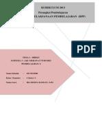 M1 KB 4 Instrumen Penunjang 1 (Contoh RPP Tematik Terpadu SD)
