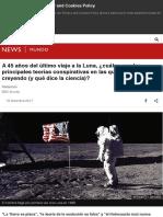 A 45 años del último viaje a la Luna, ¿cuáles son las principales teorías conspirativas en las que a