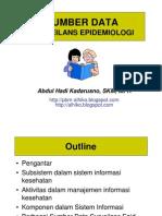 Slide I - Sumber Data Surv Epid - Sept 10